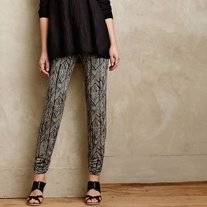 NWOT Anthropologie Printed Kimbra Tapered Joggers